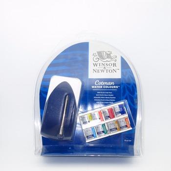 Winsor amp Newton Cotman akwarela farby Mini Plus 8 pół farby tanie i dobre opinie Zestaw 3 lat 005500 Kolor farby wody Papier