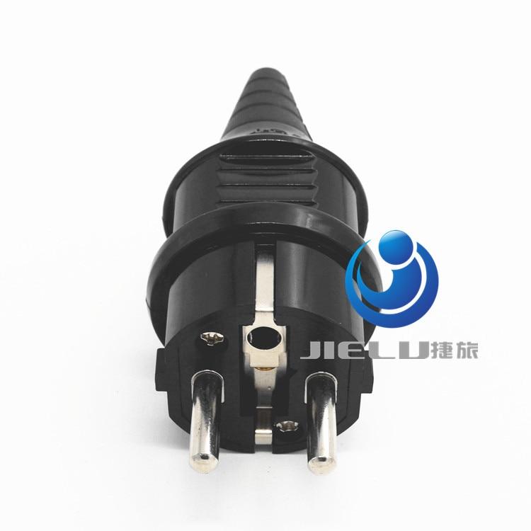цена на European 4.8mm Pin Rewireable AC Power Plug Max. 250V 16A,50 pcs