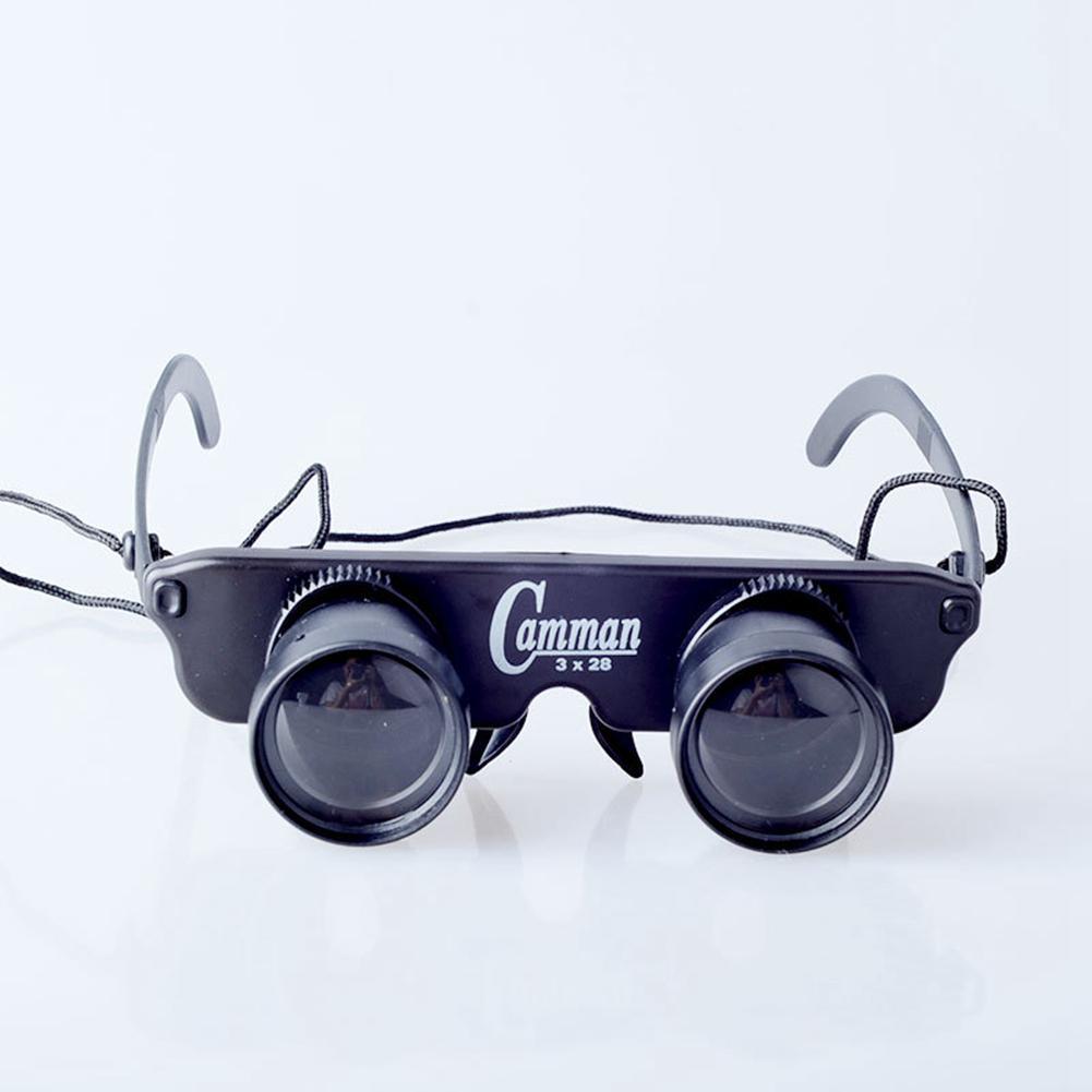 Adjustable Magnifier Glasses Style Fishing Optics Binoculars Telescope Binoculars Hiking Concert Football Game Outdoor Black