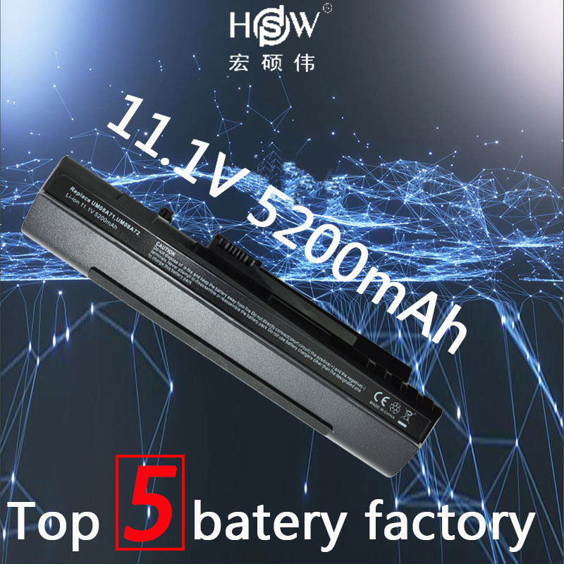 HSW battery For Acer Aspire One A110 A150 D210 D150 D250 ZG5 UM08A31 UM08A32 UM08A51 UM08A52 UM08A71 UM08A72 UM08A73 Bateria клавиатура topon top 73401 для acer aspire one a110 a110x 110l 150 a150x 150l zg5 series d250 series white