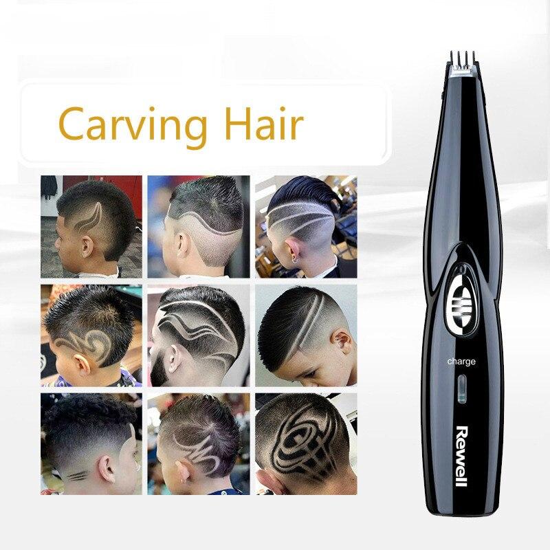 Wiederaufladbare Haarschneider Friseur Geschnitzte Carving werkzeuge Haartrimmer Erwachsene Kinder Clipper Modellierung Schablone Schriftzug Styling