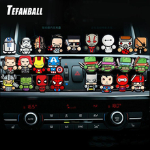 1PC Cartoon Air Freshener Car Perfume Vent Outlet Clip Deadpool Star Wars Marvel Style Auto Solid Fragrance Air Conditioner цена