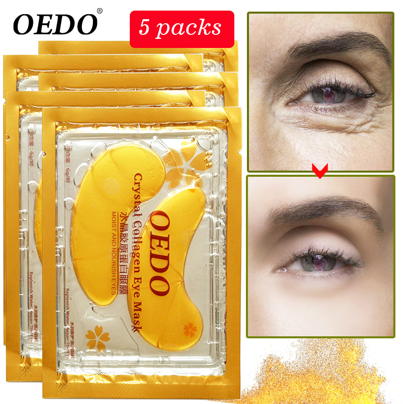 10pcs=5pack Anti-Aging Gold Crystal Collagen Eye Mask Skin Care Eye Patches Crystal Beauty Anti Dark Circle Anti-Puffiness Cream 10pcs beauty gold crystal collagen eye mask eye patches moisture anti aging acne skin care patches for eye korean cosmetics