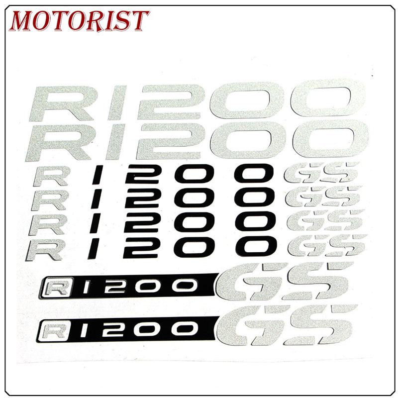 MOTORIST FOR <font><b>BMW</b></font> R1200GS R <font><b>1200</b></font> <font><b>GS</b></font> Motorcycle reflective LOGO REFLECTIVE <font><b>Stickers</b></font> FAIRING Decals image