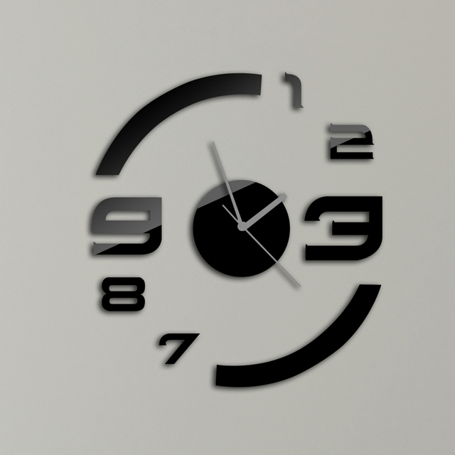 Fashion Design Wall Clock Modern Design Luxury Mirror Wall
