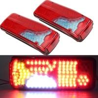 1 Pair 24V Truck LED Rear Taillights 120 LED Truck Trailer Caravan Rear Stop Brake Lamp for MEN Truck