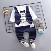 baby infant newborn costume toddler kids outfit little boy casual wearing clothes set spring autumn 9 12 24 36m first bithday