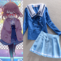 New Arrival JP Anime Beyond the Boundary Kuriyama Mirai Cosplay Costume Clothes Dress Set School Uniform Costume