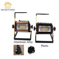 50W 36LED Rechargeable Flood Light Spot Outdoor Camping Fish Lamp US EU Plug