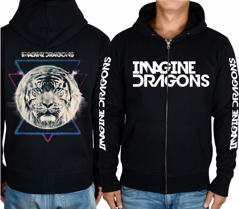 Men's Clothing 16 Styles Imagine Dragons 3d Rock Hoodies Brand Clothing Shell Jacket Punk Heavy Metal Zipper Sweatshirt Fleece Tracksuit Aromatic Character And Agreeable Taste