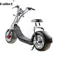 Электрический скутер Citycoco два колеса, электроскутеры большие колеса 60 в 1000 Вт Harley с сиденьем