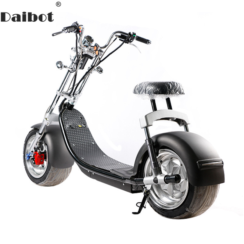 Electric Scooter Citycoco Two Wheels Electric Scooters Big Wheels 60V 1000W Harley Electric Scooter With Seat