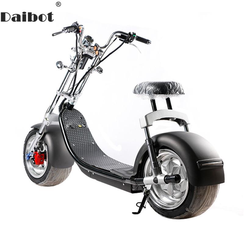 Trottinette électrique Citycoco Deux Roues trottinette électrique s Grandes Roues 60 V 1000 W Harley trottinette électrique Avec Siège