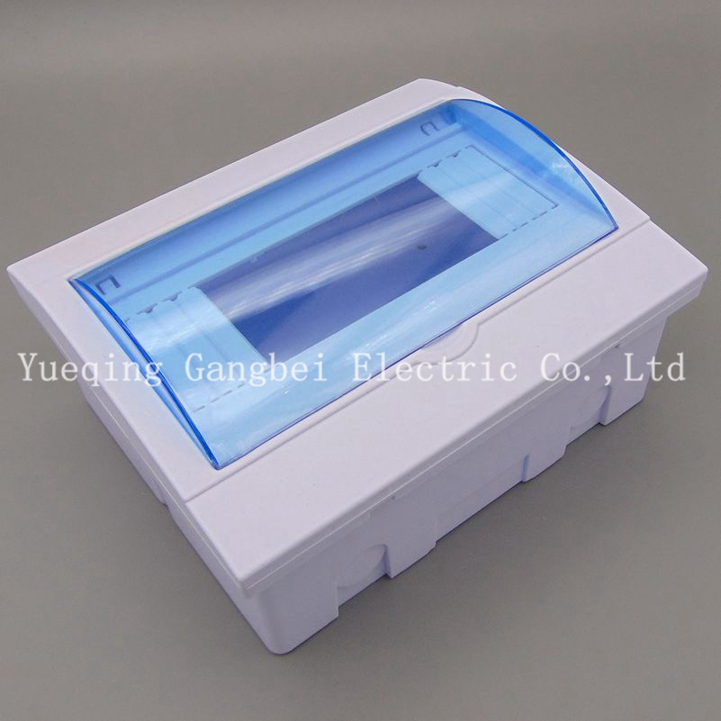 6-8 ways Plastic distribution box for circuit breaker indoor on the wall6-8 ways Plastic distribution box for circuit breaker indoor on the wall