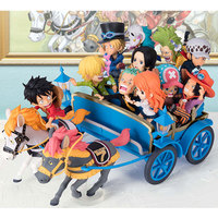One Piece 20th anniversary limited edition Carriage PVC Action Figure 11pcs Doll Portgas D Ace Sabo Monkey D Luffy Model Toys