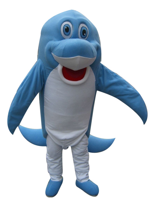 2017 New Blue Dolphin Mascot Costumes 100% Real Picture Adults Christmas Halloween Outfit Fancy Dress Suit Free Shipping