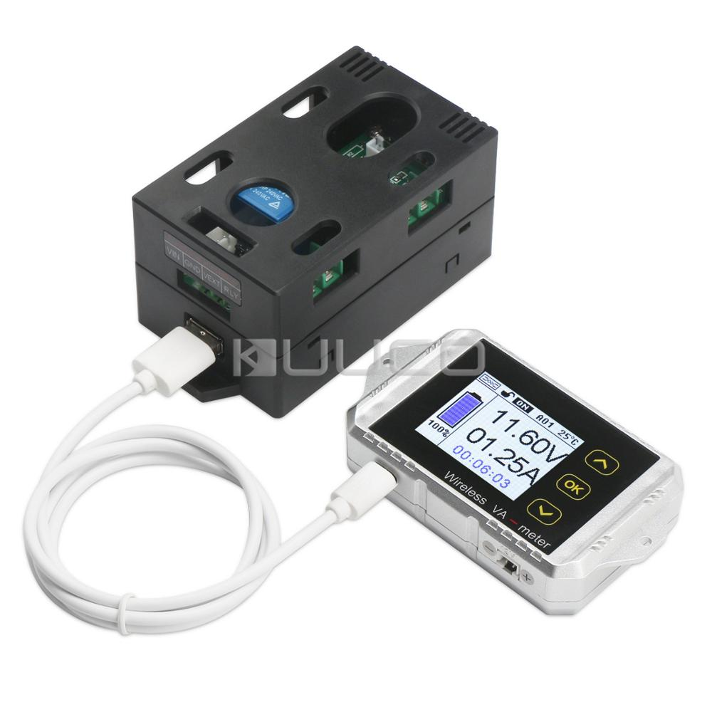Digital Meter DC 100V 30A Wireless Temperature Current Voltage KWh Watt Meter Car Battery coulometer Capacity Power tester multifunction wireless color lcd voltage current meter capacity electricity meter coulometer 0 120v 200a