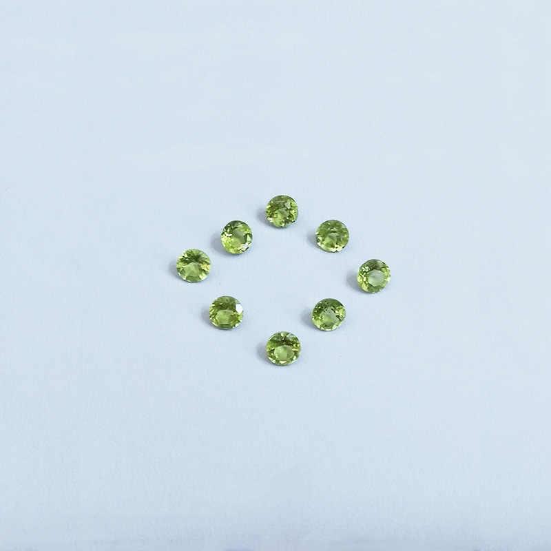 Wong deszcz najwyższej jakości 1 sztuk naturalne 6 MM okrągły naturalny Peridot luźne kamienie szlachetne DIY kamienie biżuteria dekoracyjna sprzedaż hurtowa partii luzem