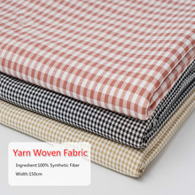 Yarn-dyed Plaid Fabric 100% Synthetic Women Wear Dress Shirt Cloth Sewing Textile Material