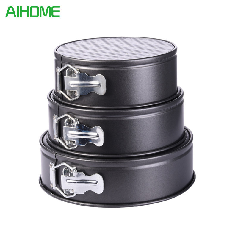 3pcs High-quality Lock Hopper Cake Mold Round Shaped Fondant Cake Biscuit Baking Mold Wedding Pan Tins Muffin Christmas Gift New