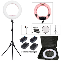 Yidoblo Pink FS 480II Bio Color Adjustable Beauty Salon Make Up 48W Ring Light LED Lamp