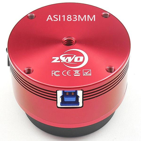 Zwo asi183mm câmera astronomia monocromática asi planetária imagem solar lunar/guiando de alta velocidade usb3.0