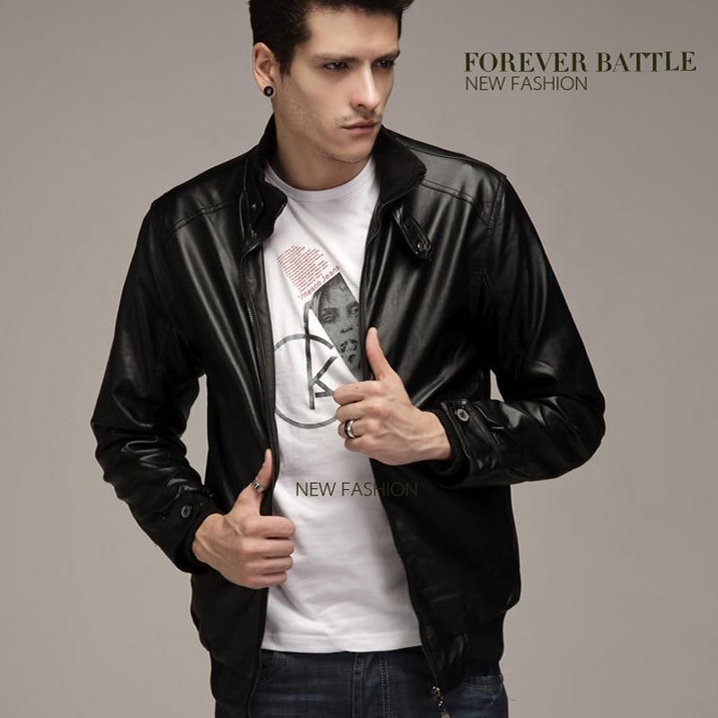 Jacket Stand-Collar Motorcycle Korean-Version Casual Slim of Men's