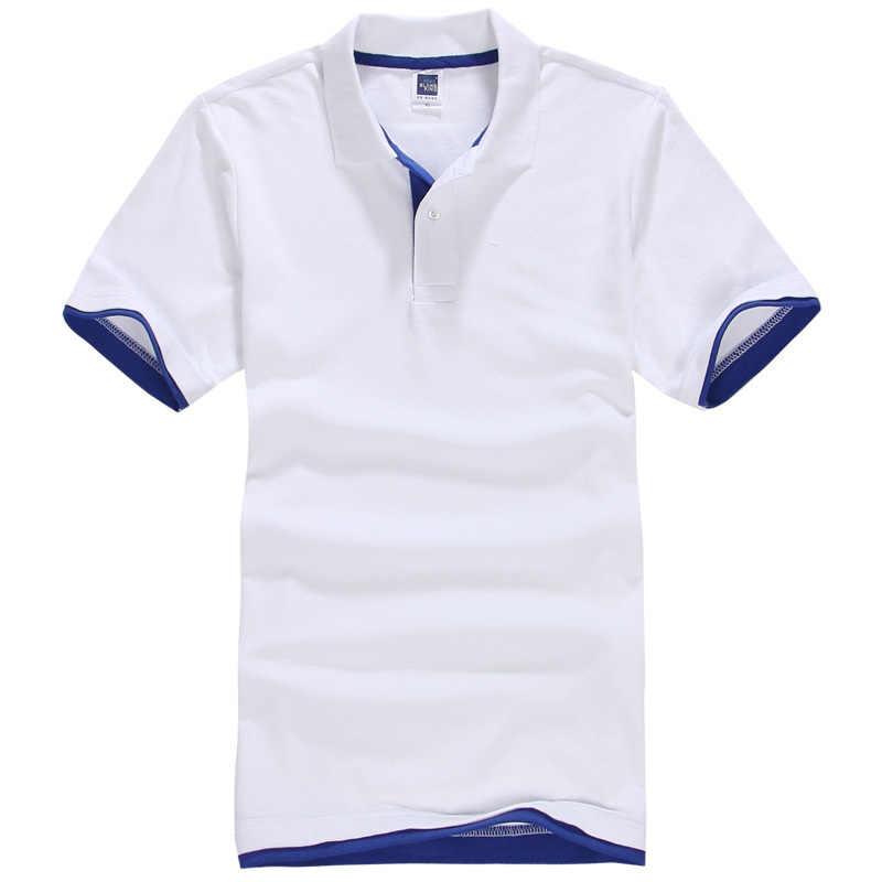 4783697f120d1 Брендовая Новая мужская рубашка поло мужская хлопковая рубашка с коротким  рукавом спортивная футболка Golftennis плюс размер