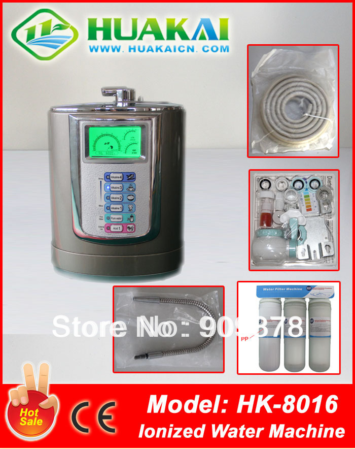 2016 Newest  Free  Shipping 3 Plates Or 5 plates Top Version Alkaline Water Machine HK-8016 удачные семена семена цинния богиня уд