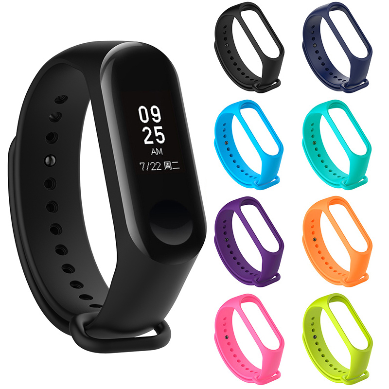 M3 Wrist Band Replacement  Soft  Bangle  12 Colors Strap Wristband Solid Silicone Xiaomi Adjustable Mi Band 3 Bracelet 1pc New