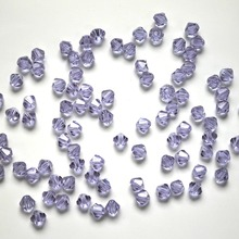 StreBelle 100pcs 4mm Bicone 5301 Austria Glass Crystal Beads Loose Spacer facted Bead for DIY Fashion Jewelry Making 3A14MM