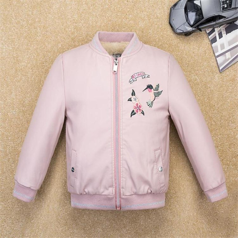 3-11Y Girl fur Coat Jacket 2017 Kids Jacket PU Leather Thick Warm Parka Boys Jackets Clothes Girls Jackets Baby Infant Outwear недорого