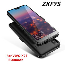 ZKFYS 6500mAh High Quality Ultra Thin Fast Charger Battery Case For VIVO X23 Portable Power Bank Back Clip Cover