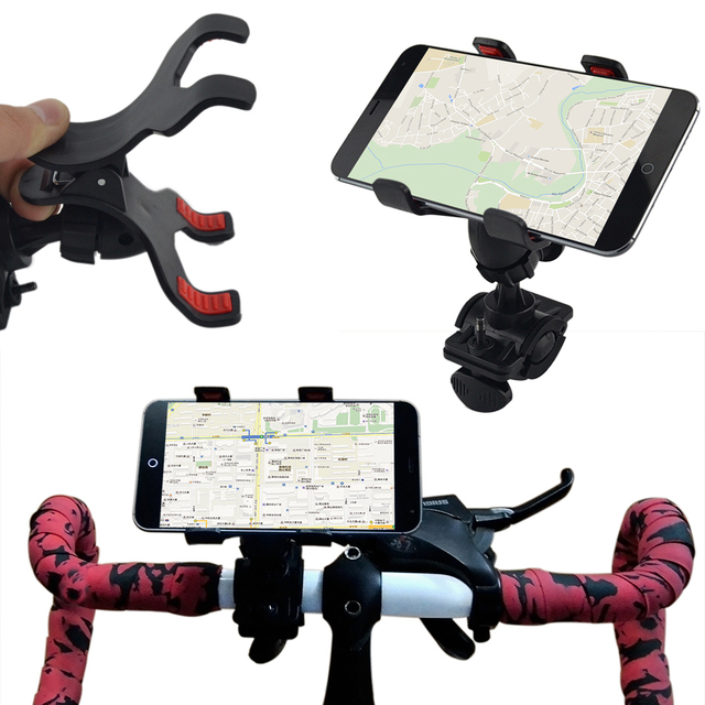 Universal mountain Bike road Bicycle Handle Phone Mount Cradle Holder Cell Phone Support Case For Apple iphone 4S 5S 6 plus
