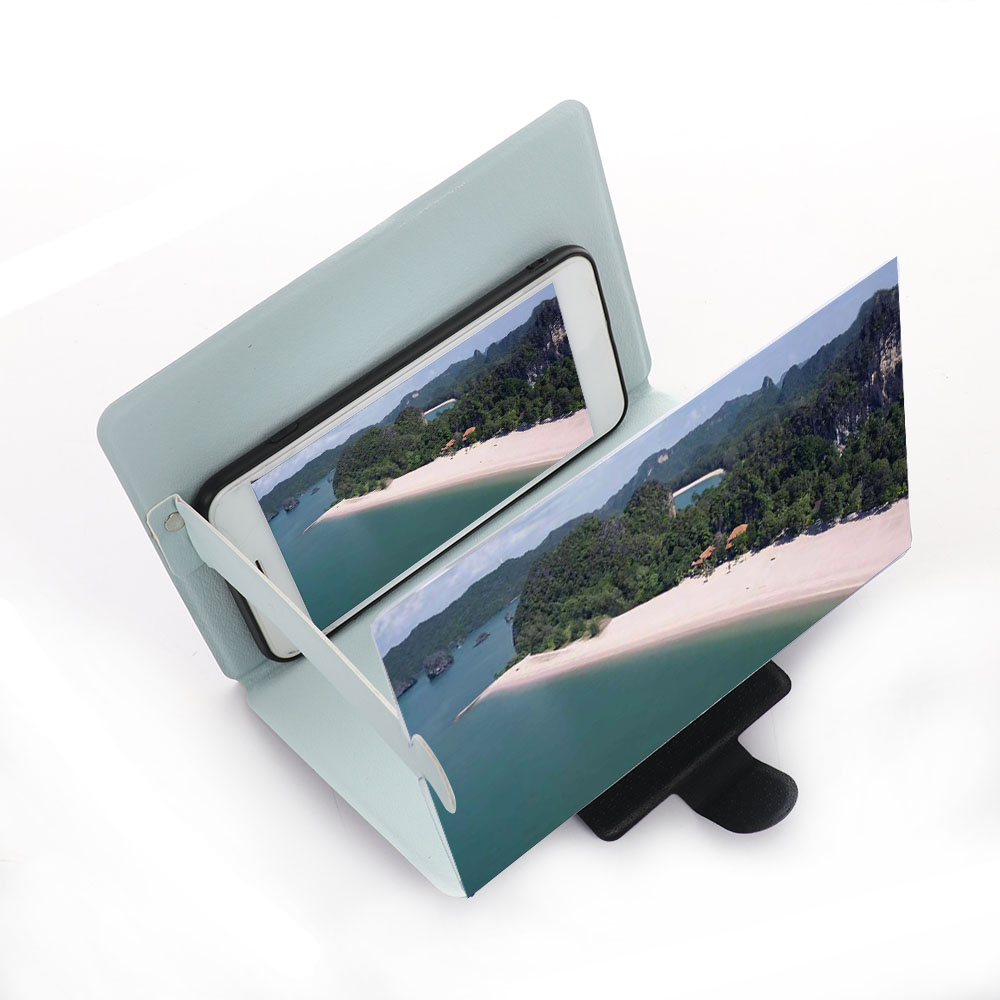 3D Phone Screen Magnifier Stereoscopic Amplifying Desktop Foldable Leather Bracket Mobile Phone Holder Tablet Holder dropshippin 3D Phone Screen Magnifier Stereoscopic Amplifying Desktop Foldable Leather Bracket Mobile Phone Holder Tablet Holder dropshippin