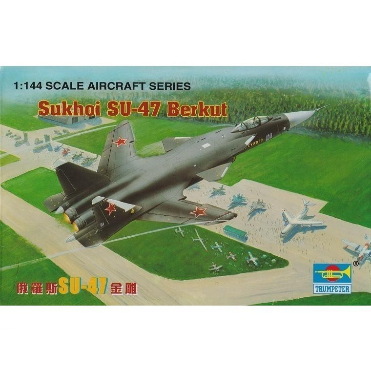 1:144 Russian SU-47 Golden Eagle Fighter Military Assembly Aircraft Model