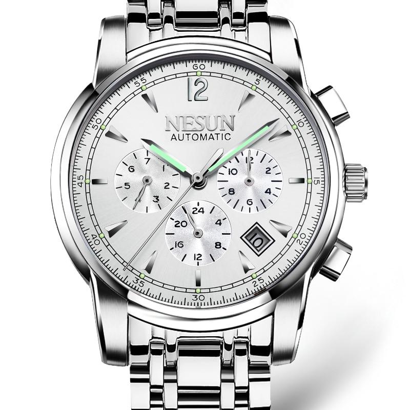 Luxury Brand NESUN Swiss Watch Automatic Mechanical