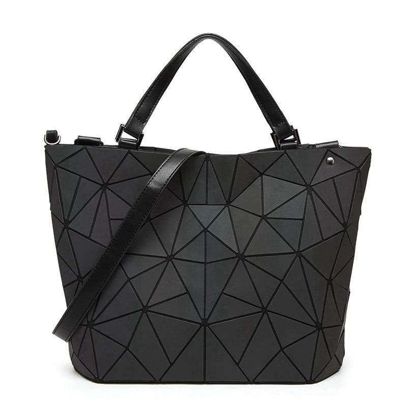 New Irregular Luminous Lingge Geometric baobao bags women Bucket Ladies Bao Bao bags folding handbags bolso