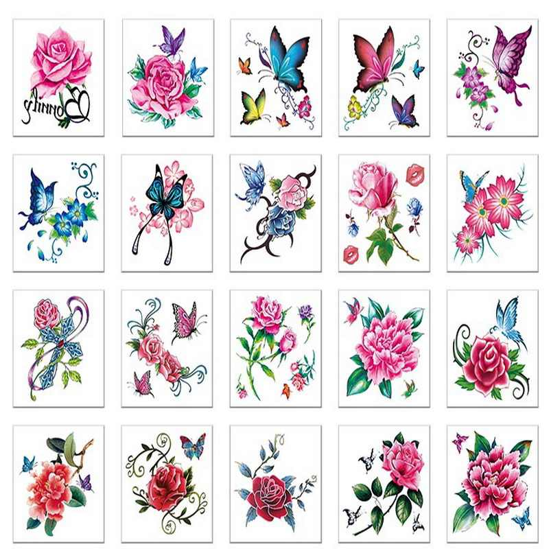 Detail Feedback Questions About 52pcs Lot Temporary Tattoo Set