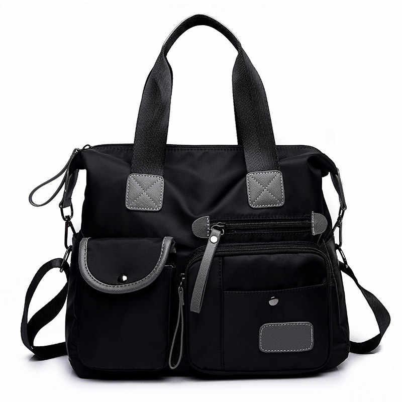 Многофункциональные багажные сумки для женщин с большим карманом, повседневная сумка-тоут, нейлоновая водонепроницаемая сумка через плечо, сумки через плечо, сумки-тоут, Bolsa Feminina