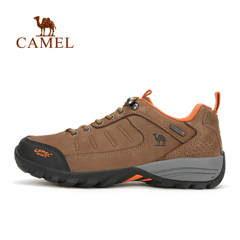 CAMEL New Classic Style Lace-Up Wear-resistant Hiking Shoes For Men Outdoor Sports Jogging Mountain Climbing Trekking Sneakers sports style owl printed lace up narrow feet long pants for men