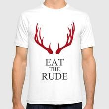 Hot Sale Fashion Hannibal Eat the rude New Mens T-shirts Short Sleeve Tshirt Cotton t shirts Man Clothing Wholesale
