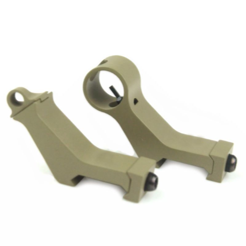 New arrival Tactical airsoft Front and Rear Sight 45 Degree Iron for hunting DE ht579