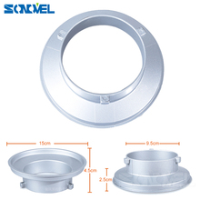 150mm Dia. Mounting Flange Ring Adapter for Flash Acessories fits Bowens Mount Suitable for Godox S type Softbox