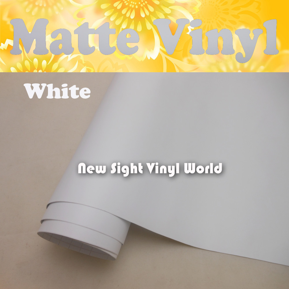 High Quality Matte White Vinyl Film White Matte Car Wrap Matt White Film Air Free Bubble