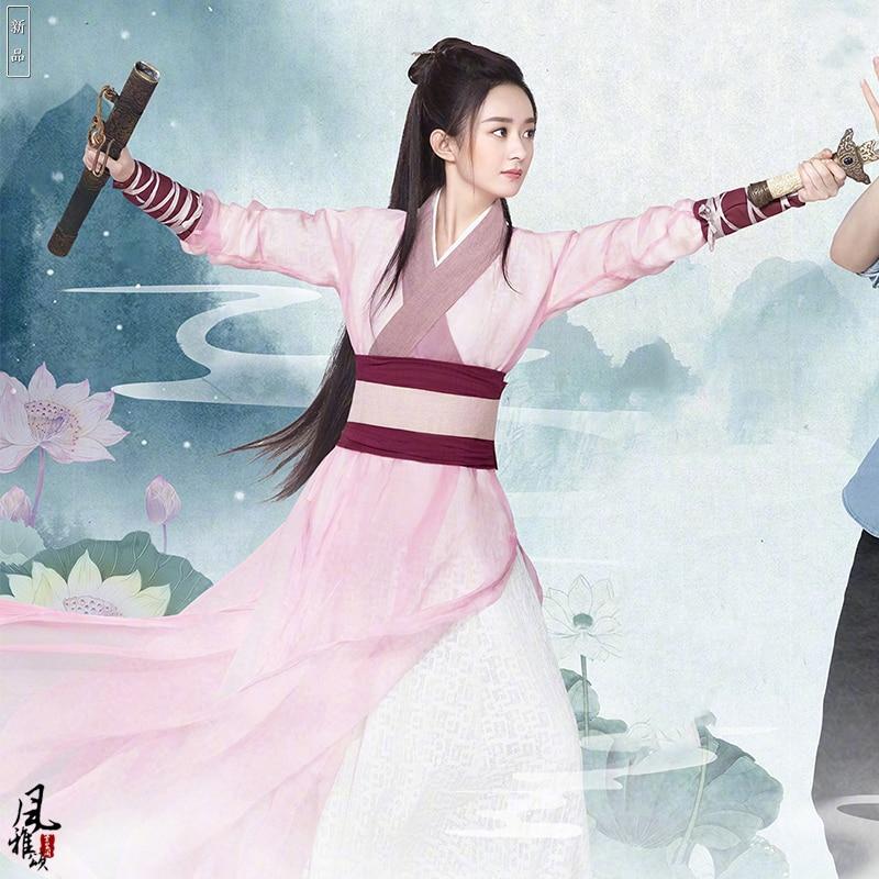 Zhao LiYing Pink Swordlady Costume Hanfu for Women Cosplay ...