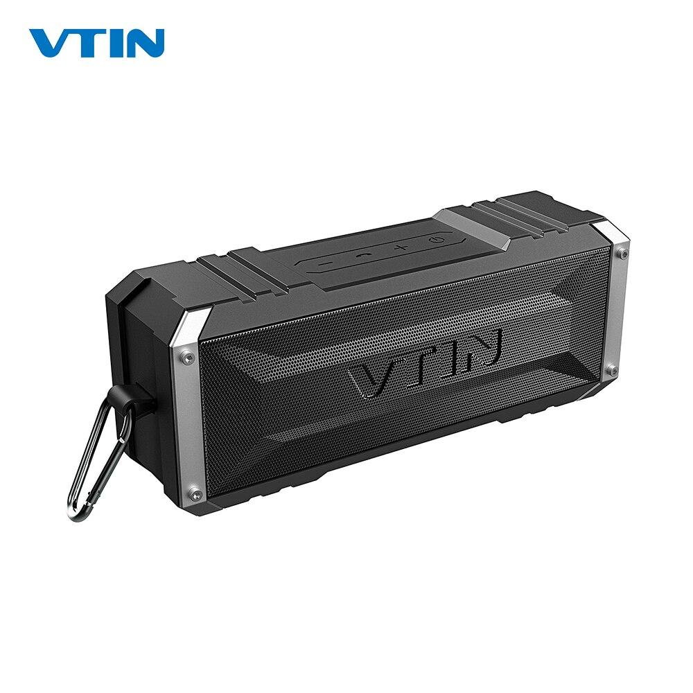 VTIN Punker Portable Wireless Bluetooth Speaker 20W Output Dual 10W Drivers Outdoor Waterproof Speaker with Mic