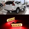 Carro-styling Anti Colisão Luz de Advertência Do Carro Nevoeiro Auto Lâmpada Led Indicadores de Sinal de Freio de Estacionamento Para Honda CRV CR-V 2015 2016