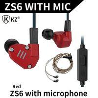 KZ Brand In Ear Earphone Headset KZ ZS6 Version Earphones With Or No Mic Hearphone All