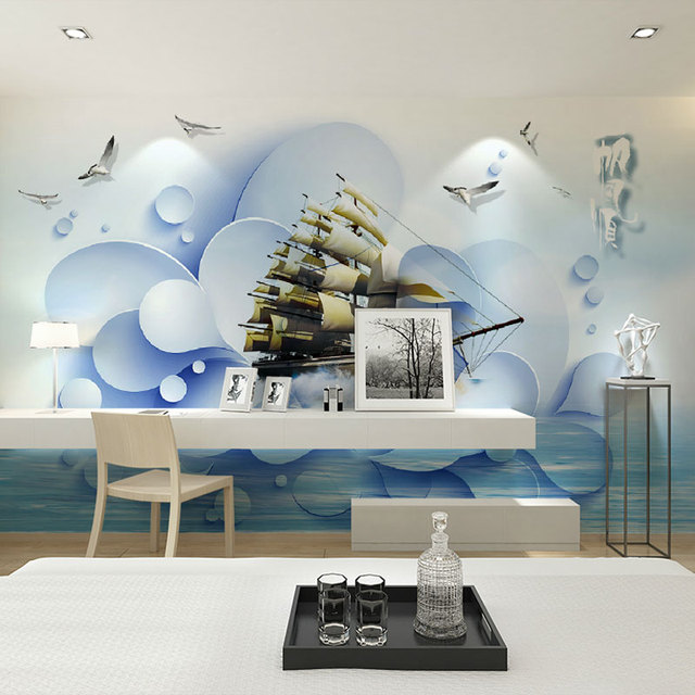 Home Office Decor Behang Murales Camera Da Letto Soggiorno Carte Da ...
